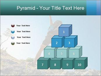 Hiker jumps PowerPoint Template - Slide 31