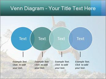 Hiker jumps PowerPoint Template - Slide 32