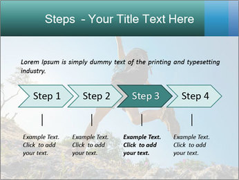 Hiker jumps PowerPoint Templates - Slide 4