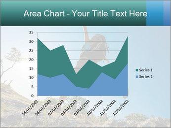 Hiker jumps PowerPoint Template - Slide 53