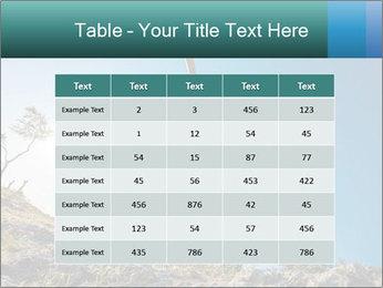 Hiker jumps PowerPoint Template - Slide 55