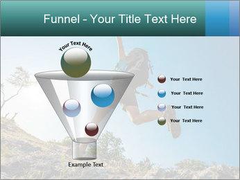 Hiker jumps PowerPoint Template - Slide 63