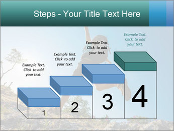 Hiker jumps PowerPoint Templates - Slide 64