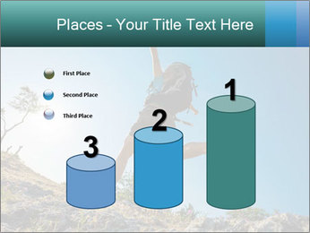 Hiker jumps PowerPoint Templates - Slide 65