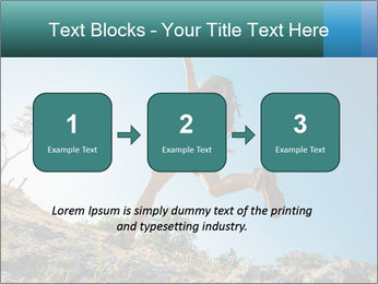 Hiker jumps PowerPoint Templates - Slide 71