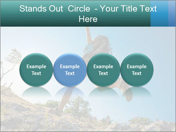 Hiker jumps PowerPoint Templates - Slide 76