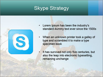 Hiker jumps PowerPoint Templates - Slide 8