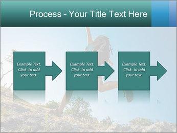 Hiker jumps PowerPoint Template - Slide 88