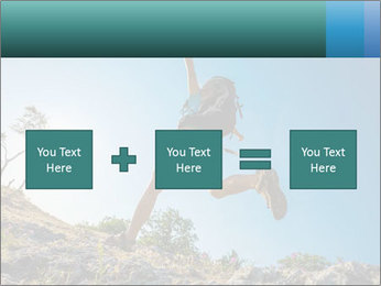 Hiker jumps PowerPoint Templates - Slide 95