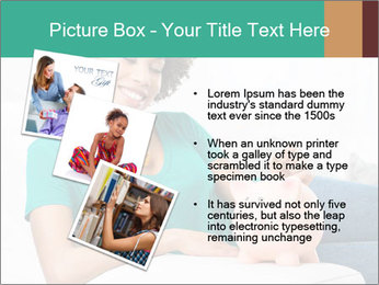 Young Girl Lying PowerPoint Templates - Slide 17