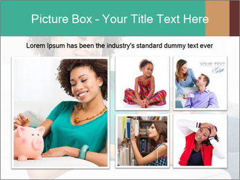 Young Girl Lying PowerPoint Templates - Slide 19