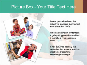 Young Girl Lying PowerPoint Templates - Slide 23
