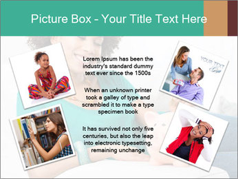 Young Girl Lying PowerPoint Templates - Slide 24