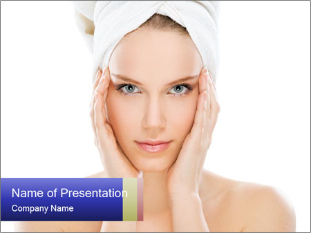 Young beauty PowerPoint Template