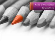 Orange Coloring Crayon PowerPoint Templates