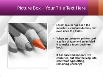 Orange Coloring Crayon PowerPoint Template - Slide 13