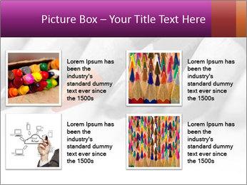 Orange Coloring Crayon PowerPoint Template - Slide 14