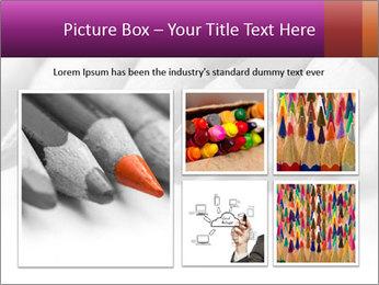 Orange Coloring Crayon PowerPoint Template - Slide 19
