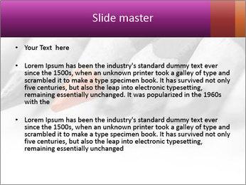 Orange Coloring Crayon PowerPoint Template - Slide 2