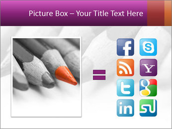Orange Coloring Crayon PowerPoint Template - Slide 21