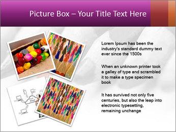Orange Coloring Crayon PowerPoint Template - Slide 23
