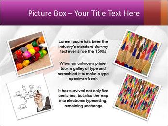 Orange Coloring Crayon PowerPoint Template - Slide 24