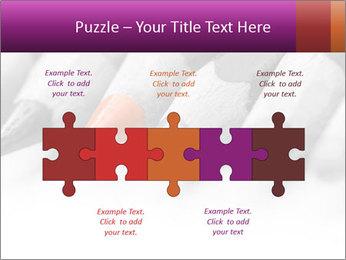 Orange Coloring Crayon PowerPoint Template - Slide 41