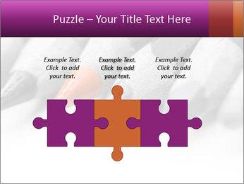 Orange Coloring Crayon PowerPoint Template - Slide 42
