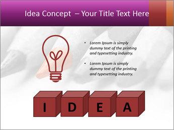 Orange Coloring Crayon PowerPoint Template - Slide 80