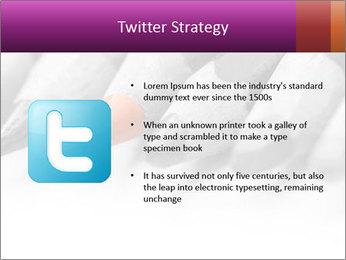 Orange Coloring Crayon PowerPoint Template - Slide 9