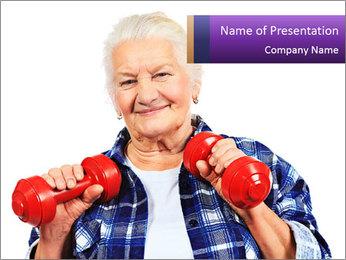 Happy grandma PowerPoint Template - Slide 1