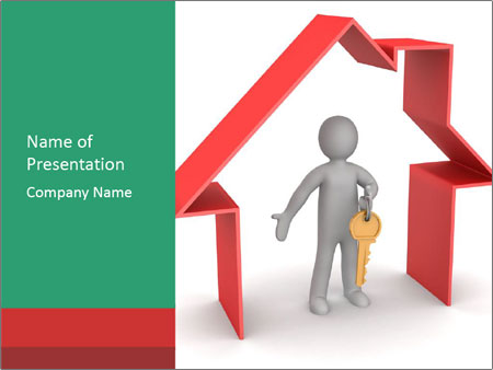 Presentation of new house PowerPoint Templates