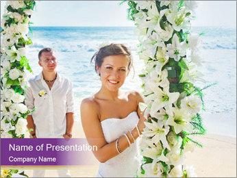 Romantic wedding PowerPoint Template - Slide 1