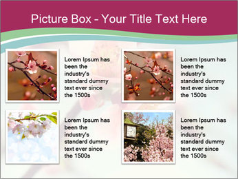 Spring blossom macro PowerPoint Template - Slide 14