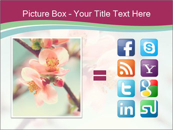 Spring blossom macro PowerPoint Template - Slide 21