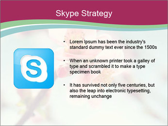 Spring blossom macro PowerPoint Template - Slide 8