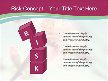 Spring blossom macro PowerPoint Template - Slide 81