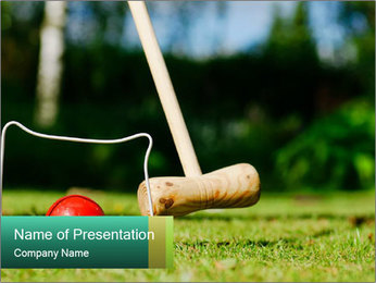 Croquet in the garden PowerPoint Templates - Slide 1