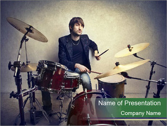 Young musician PowerPoint Template - Slide 1