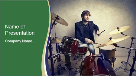 Young musician PowerPoint Template