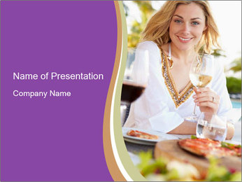 Woman Enjoying PowerPoint Templates - Slide 1