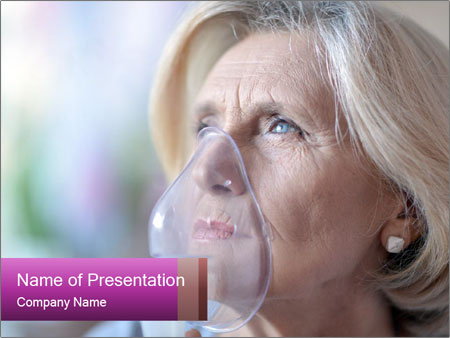 Woman making inhalation PowerPoint Templates