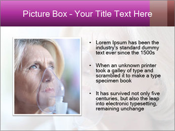 Woman making inhalation PowerPoint Templates - Slide 13