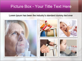 Woman making inhalation PowerPoint Templates - Slide 19