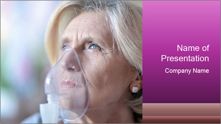 Woman making inhalation PowerPoint Template