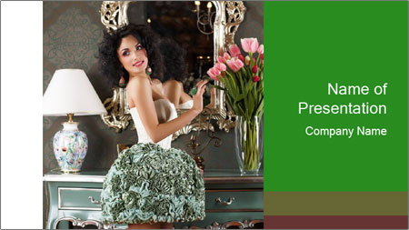 Beautiful Glamorous Woman PowerPoint Template