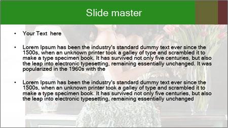 Beautiful Glamorous Woman PowerPoint Template - Slide 2