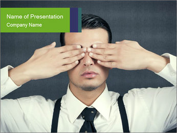 See no Evil PowerPoint Templates - Slide 1
