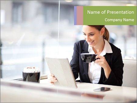 Young businesswoman PowerPoint Templates