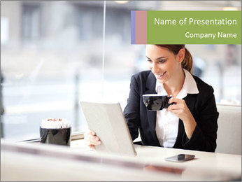 Young businesswoman PowerPoint Templates - Slide 1